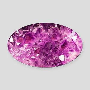 Amethyst Healing Gemstone Oval Car Magnet