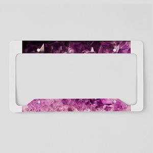 Amethyst Healing Gemstone License Plate Holder
