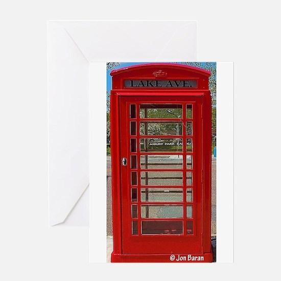 British Telephone Booth Greeting Card