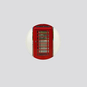 British Telephone Booth Mini Button