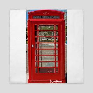 British Telephone Booth Queen Duvet