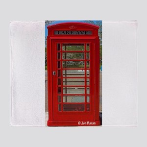 British Telephone Booth Throw Blanket