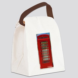 British Telephone Booth Canvas Lunch Bag