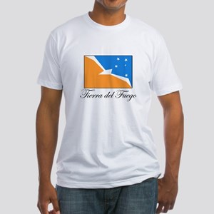 Tierra del Fuego - Flag Fitted T-Shirt