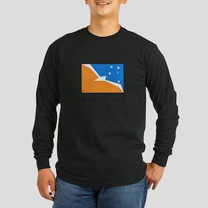 Tierra del Fuego - Flag Long Sleeve Dark T-Shirt
