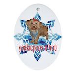 Yorkiepoos R Hot - Oval Ornament