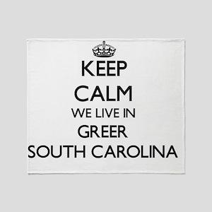 Keep calm we live in Greer South Car Throw Blanket