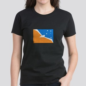 Tierra del Fuego Flag Women's Dark T-Shirt