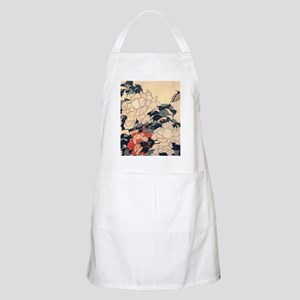 Hokusai Peonies and Butterfly Apron