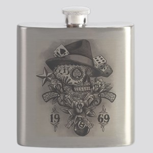 1969 Skull Tattoo Flask