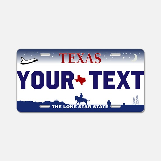 Custom Texas Aluminum License Plate From 2000