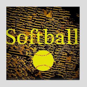 Softball Tile Coaster