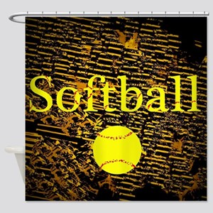 Softball Shower Curtain