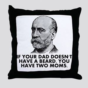 Two Moms Throw Pillow
