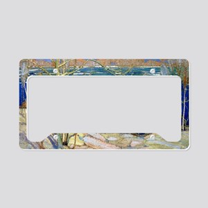 Spring Ice, landscape paintin License Plate Holder