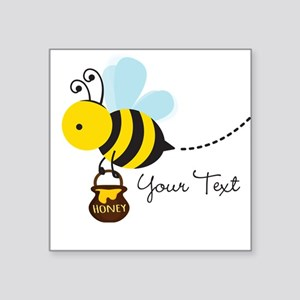 Honey Bee, Honeybee, Carrying Honey; Kid's Sticker