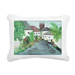 English Village Rectangular Canvas Pillow