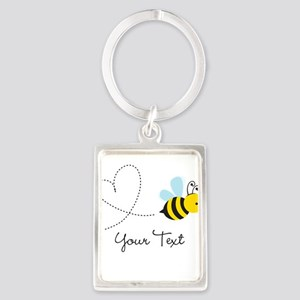 Cute Bee and Heart; honeybee; Personalized Kid's K