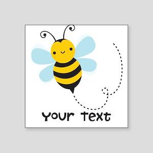 Personalzied Kid's Honey Bee, Black & Yellow Stick