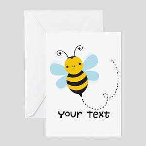 Personalzied Kid's Honey Bee, Black & Yellow Greet