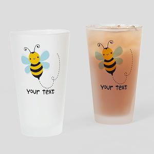 Personalzied Kid's Honey Bee, Black & Yellow Drink