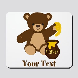 Cute Honey Bear; Personalized Kid's Graphic Mousep