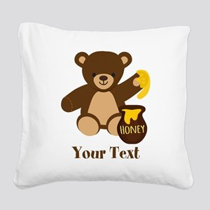 Cute Honey Bear; Personalized Kid's Graphic Square