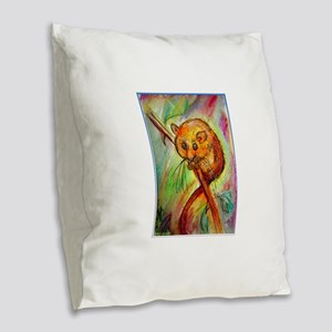 Mouse, wildlife, animal art Burlap Throw Pillow