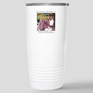 Warrior Sheltie Stainless Steel Travel Mug