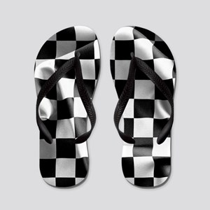 Chequered Flag Flip Flops