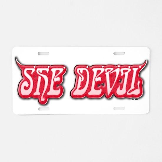 She Devil (W).png Aluminum License Plate