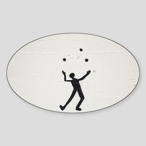 Juggler Sticker (Oval)
