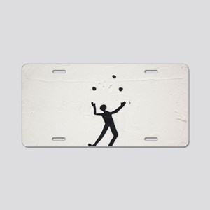 Juggler Aluminum License Plate