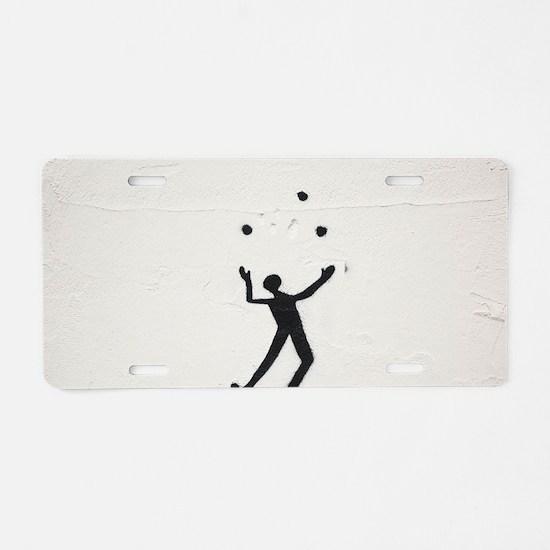 Juggler Aluminum License Plate