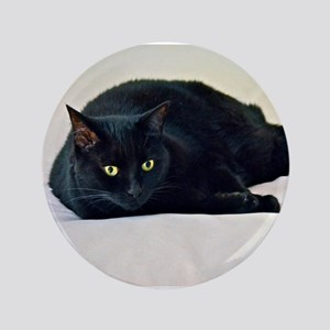 "Black Cat! 3.5"" Button"