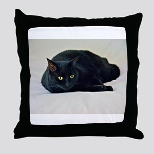 Black Cat! Throw Pillow