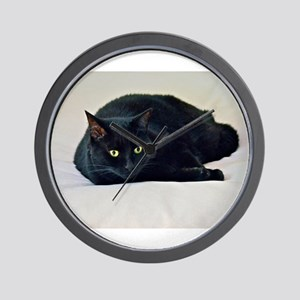 Black Cat! Wall Clock