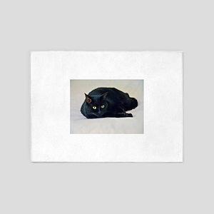 Black Cat! 5'x7'Area Rug