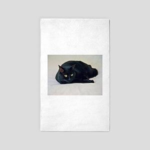 Black Cat! Area Rug