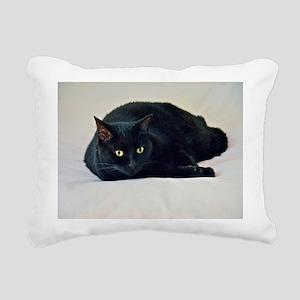 Black Cat! Rectangular Canvas Pillow