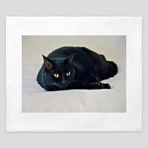 Black Cat! King Duvet
