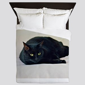 Black Cat! Queen Duvet
