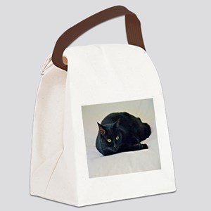 Black Cat! Canvas Lunch Bag