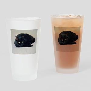 Black Cat! Drinking Glass