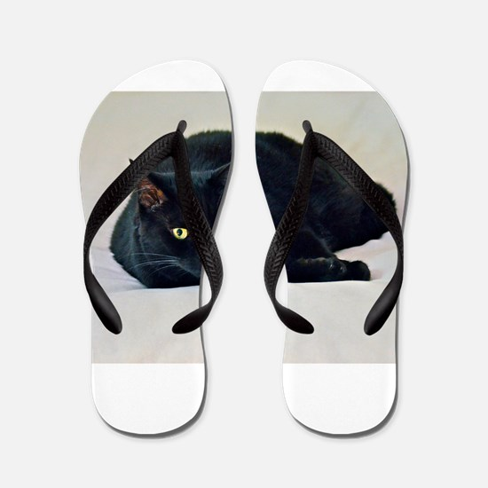 Black Cat! Flip Flops