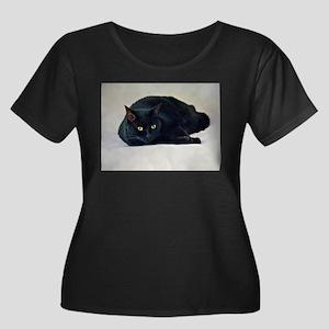 Black Cat! Plus Size T-Shirt