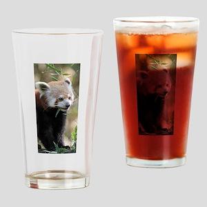Red Panda 003 Drinking Glass