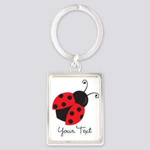 Red and Black Ladybug; Kid's, Girl's Keychains