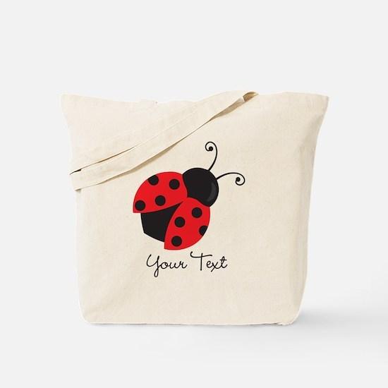 Red and Black Ladybug; Kid's, Girl's Tote Bag
