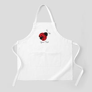 Red and Black Ladybug; Kid's, Girl's Apron